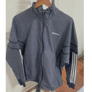 Adidas Grey Essentials Windbreaker